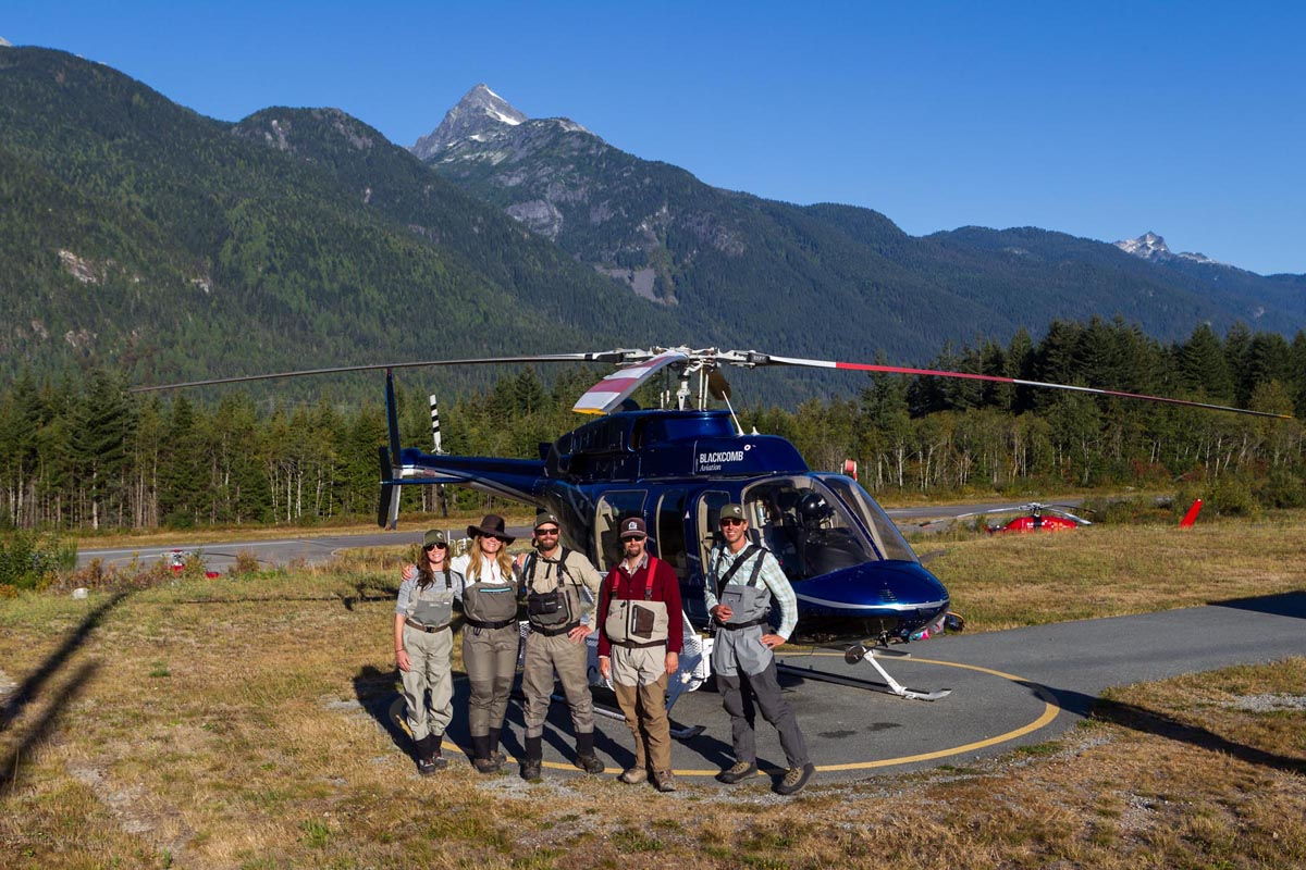 Heli fishing trip options from Whistler, British Columbia