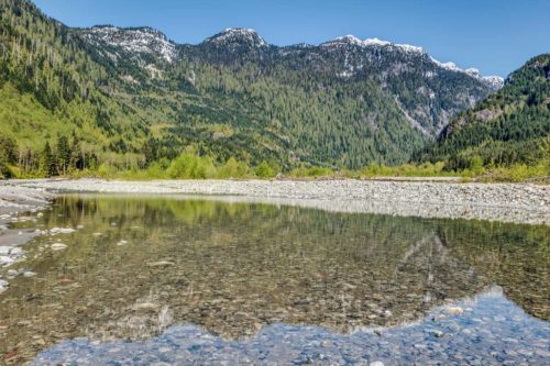 Scenic photo on the Pitt River