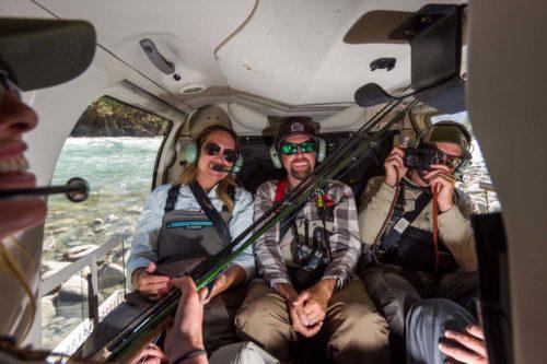 Anglers on a Heli-Fishing Trip