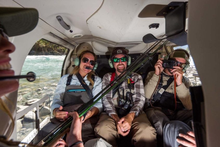 Anglers on a Heli-Fishing Trip