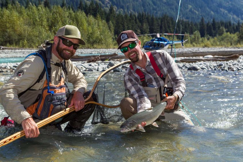 Heli-fishing bull trout whistler
