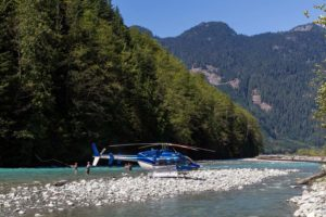 What is heli fishing?