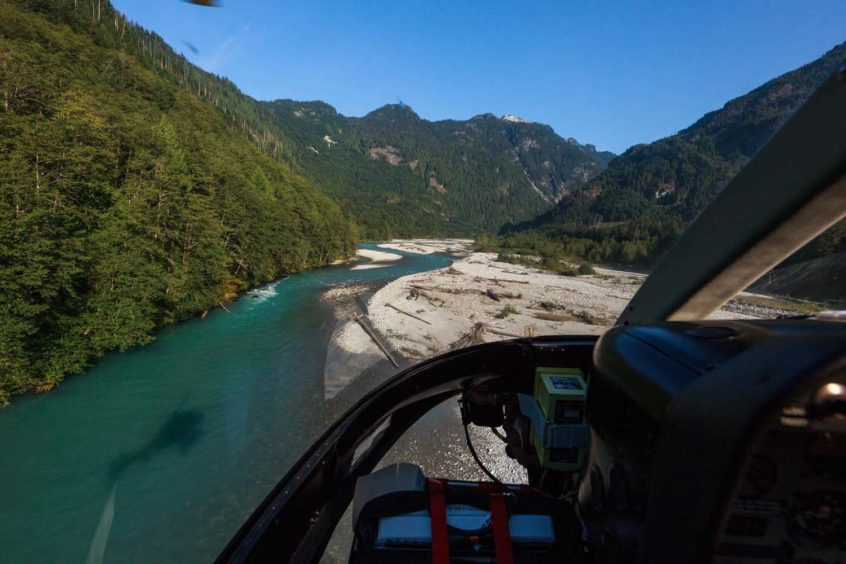 Heli-Fishing Flight to Pitt River near Whistler