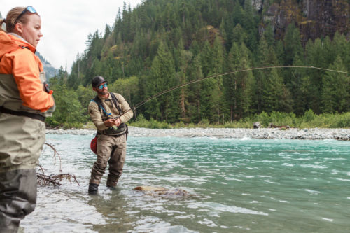 side pressure while fighting big fish in rivers