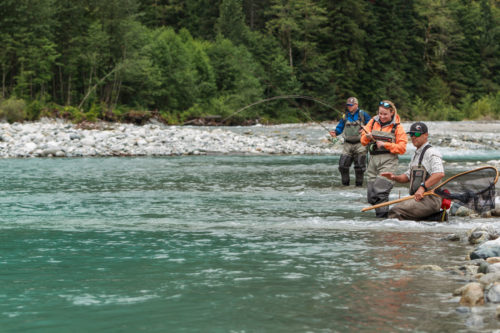 Fly fishing for big bull trout