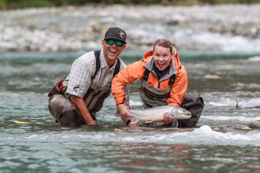 Big bull trout near whistler