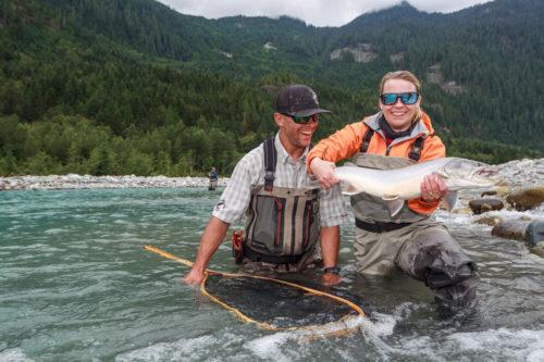 Beginners catch big bull trout