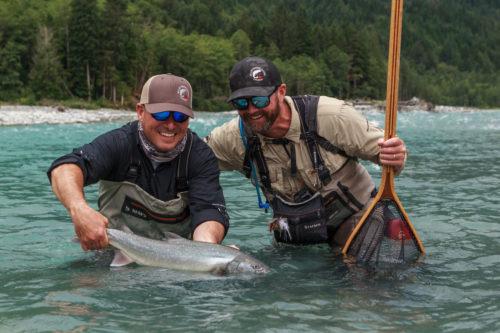big bull trout handling skills