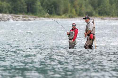 whistler fly fishing trip by helicopter
